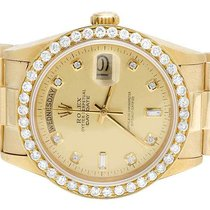 Rolex Mens Rolex President 18K Yellow Gold Day-Date 36MM 18038...