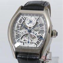 Cartier Tortue Perpetual Calendar 18k White Gold Box Papers