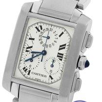 Cartier Tank Francaise Chronoflex Chronograph Quartz W51001Q3...