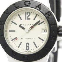 Bulgari Aluminum Rubber Quartz Mid Size Watch Al32a (bf305814)