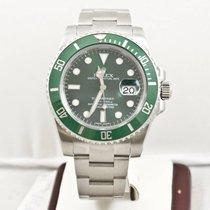Rolex Submariner Date 116610LV Hulk  Anniversary Box &...