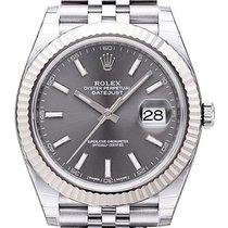 Rolex Datejust 41 Edelstahl Weißgold 126334 Rhodium Jubile