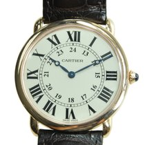 Cartier Ronde Louis Cartier 18k Rose Gold Silvery White...