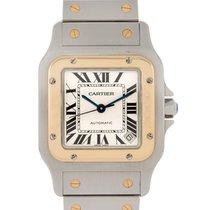 Cartier Santos Galbe' In Acciaio E Oro Giallo 18kt Modello...