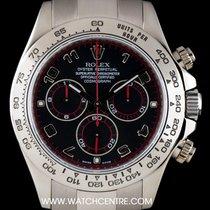 Rolex 18k W/G Black Racing Dial Cosmograph Daytona Gents 116509