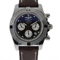 Breitling Chronomat 44 Stainless Steel Brown Dial On Brown...