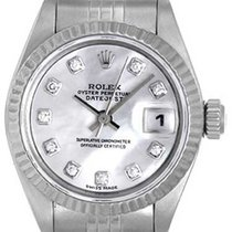 Rolex Ladies Datejust Stainless Steel Mother of Pearl Diamond...
