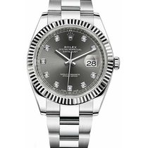 Rolex Unworn 126334-RHODO Datejust 41mm in Steel with White...