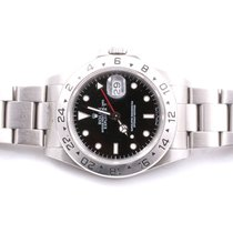 Rolex Mens 16570 Explorer II - Black Dial - Oyster Band - MINT