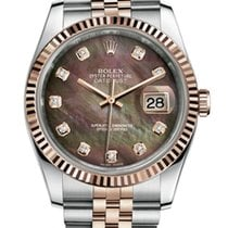 Rolex Datejust 36mm Steel and Rose Gold Diamond MOP Dial