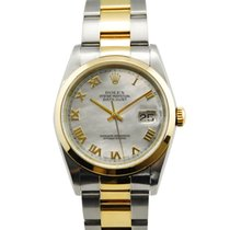 Rolex Datejust Two Tone 18kt YG/SS MOP Roman Dial - 16203