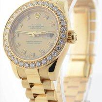 Rolex Ladies Datejust President 18k Yellow Gold & Diamonds...