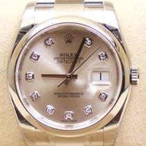Rolex Datejust, Ref. 116200 - silber Diamant Zifferblat/Oyster...