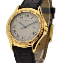 Cartier sanots_round_yg_dmnds Santos 33mm Yellow Gold with...