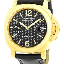 "Panerai Gent's 18K Yellow Gold  PAM 140 ""Luminor..."