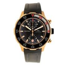 IWC Aquatimer 18k Rose Gold Black Automatic Black Rubber IW376905