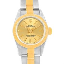 Rolex Oyster Perpetual Nondate Steel Yellow Gold Ladies Watch...