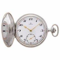 Omega silver pocket watch