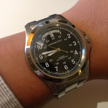 Hamilton KHAKI FIELD KING AUTO Black-Steel Bracelet 40mm...