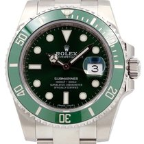 Rolex Submariner Hulk 116610LV Anniversary 40mm Green Ceramic...