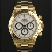 "Rolex Daytona 16528 yellow gold ""porcelain"" full set..."