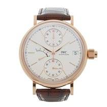IWC Portofino Hand Wound Mono Pusher 18k Rose Gold Gents...