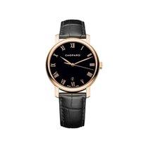 Chopard Classique 18k Rose Gold Black Automatic 161278-5006
