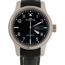 Fortis Aviatis Aeromaster Steel Auto Swiss Watch Black Strap...