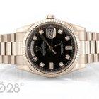 Rolex Day-Date 118239 Weißgold Black Diamond Dial Papiere 04/2009