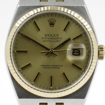 "Rolex ""Oyster Quartz Date Just"" 18K gold/steel. Incl...."