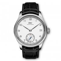 IWC Portugieser Hand Wound Eight Days  Silver  Dial Hand Wind...