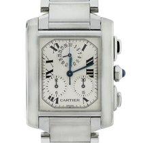 Cartier Tank Francaise W51001Q3 Chronoflex Stainless Steel Watch