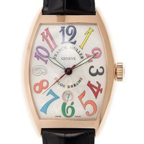 Franck Muller Cintree Curvex 18k Rose Gold White Automatic...