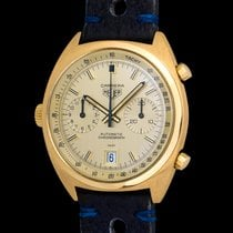 Heuer Carrera Automatic Chronograph 1158 In 18k Yellow Gold