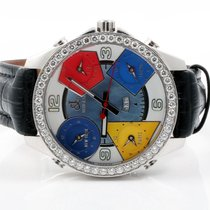 Jacob & Co. . FIVE TIME ZONES DATE BIG MOP DIAL 3.00ct...