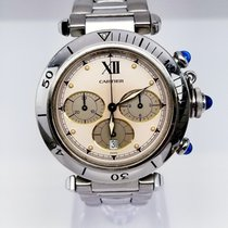 Cartier W31018H Pasha quartz Chronograph Stainless Steel