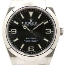 Rolex Explorer 214270 39mm Black Arabic Index Stainless Steel...