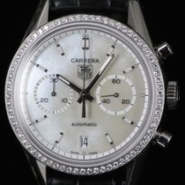 TAG Heuer Carrera Chronograph MOP Diamond 39mm Steel Automatic