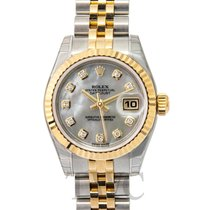 Rolex Lady Oyster Perpetual White/18k gold Ø26 mm - 179173