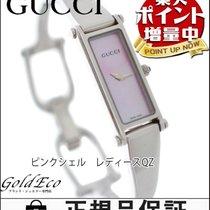 Gucci 【グッチ】 バングル レディース腕時計【中古】 1500L クォーツ ステンレス ピンクシェル文字盤/シルバー