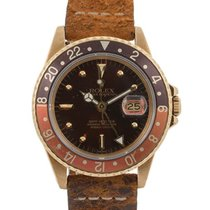 Rolex Gmt-master 40mm In Oro Giallo 18kt Tropical Nipple Dial...