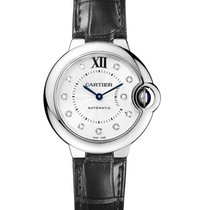 Cartier w4bb0009 Ballon Bleu 33mm in Steel - On Black Alligato...