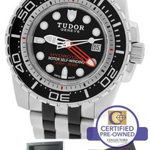 Tudor Hydronaut 1200 Stainless Black 45mm 25000 Dive Date Watch