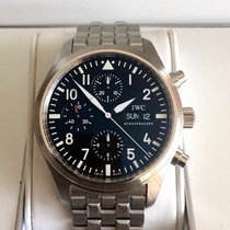 IWC Pilot chronograph Steel Full Set Mint