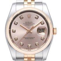 Rolex Datejust 36 Edelstahl Roségold 116201 Pink DIA Jub