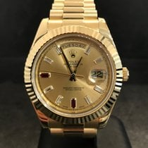 Rolex DAY-DATE II 41mm - 218238 - Yellow Gold Ruby