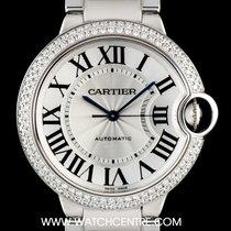 カルティエ (Cartier) 18k White Gold Diamond Bezel Ballon Bleu...
