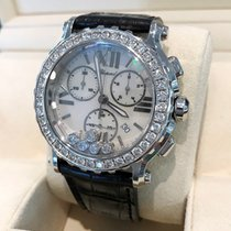 Chopard Happy Sport Chronograph Steel Diamond Bezel 42 mm...