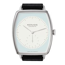 Nomos GLASHÜTTE Lux Weissgold sapphire crystal back Mens Watch...