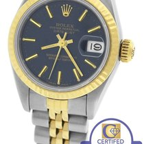 Rolex DateJust 26mm 69173 Two-Tone Stainless Blue Jubilee Watch